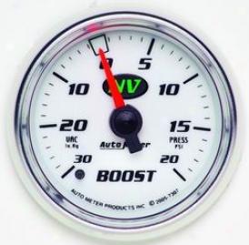 Universal Unkversal Auto Meter Boost/vacuum Measure  7307