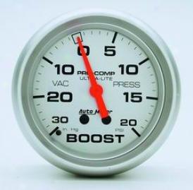 Universal Universal Auto Meter Boost/vacuum Gauge 4401