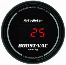 Universal Universal Auto Meter Boost/vacuum Gauge 6359