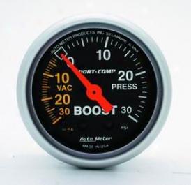 Universal Universal Auto Meter Boost/vacuum Gauge 3303