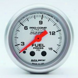 Unifersal Universal Auto Meter Fuel Pressure Gauge 4313