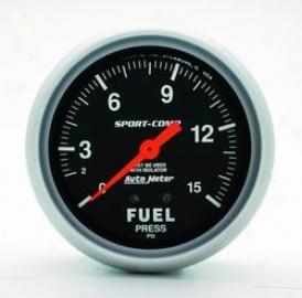 Universal Universal Auto Meter Fuel Pressure Gauge 3413