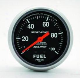 Universal Universal Auto Meter Fuel Pressure Gauge 3412