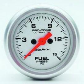 Unlimited Universal Auto Meter Fuel Pressure Gauve 4361