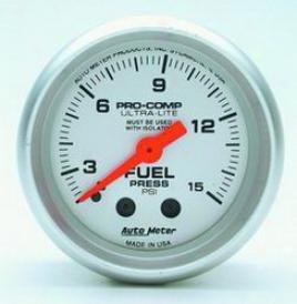 Universal Universal Auto Meter Fuel Pressure Gaug 4311