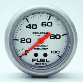 Universal Universal Auto Meter Fuel Pressure Gauge 4412