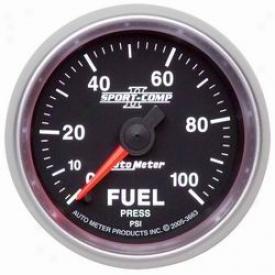 Universal Universal Auto Meter Fuel Pressure Gauge 3663
