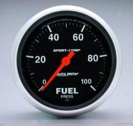 Universal Universal Auto Meter Fuel Pressure Measure  3563