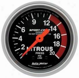 Universal Universal Auto Meter Nitrous Pressure Gauge 3328