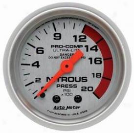 Universal Universal Auto Meter Nitrous Pressure Gauge 4328