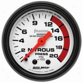Universal Universal Auto Meter Nitrous Pressure Gauge 5728