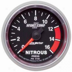 Unlimited Universal Auto Meter Nitrous Pressure Gauge 3674