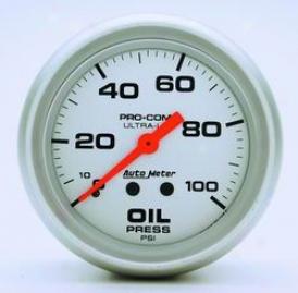 Universal Universal Auto Meter Oil Pressure Gauge 4421