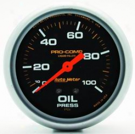 Universal Universal Auto Meter Oil Affliction Gauge 5421