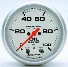 Universal Universal Auto Meter Oil Pressure Gauge 4452