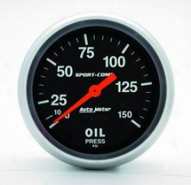 Unvversal Universal Auto Meter Oil Pressure Gauge 3423