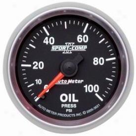 Universal Universal Auto Meter Oil Pressure Gauge 3621