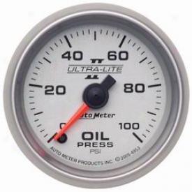 Universal Univeersal Auto Meter  Oil Pressure Gauge 4953