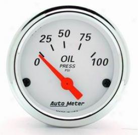 Total Universal Auto Meter Oil Pressure Gauge 1327