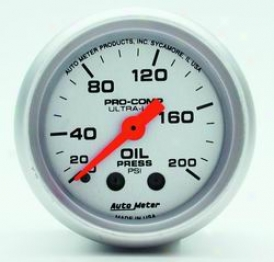 Universal Universal Auto Meter Oil Pressure Gauge 4322