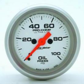 Universal Universal Auto Meter Oil Pressure Gauge 4353