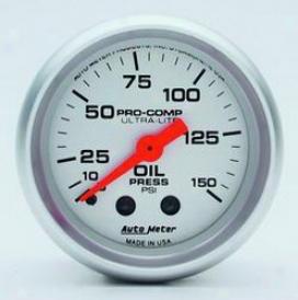 Universal Universal Auto Meter Oil Pressure Gauge 4323