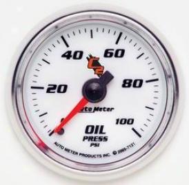 Universal Universal Auto Meter Oil Pressure Gauge 7121