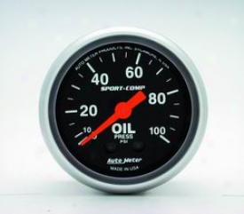 Universal Universal Auto Meter Oil Pressure Gauge 3321