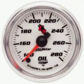 Universal Universal Auto Meter  Oil Temperature Gauge 7156