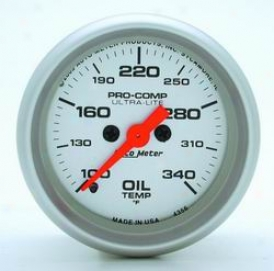 Universal Universal Auto Meter Oil Temperature Gauge 4356