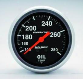Universal Universal Auto Meter Oil Temperature Gauge 3441