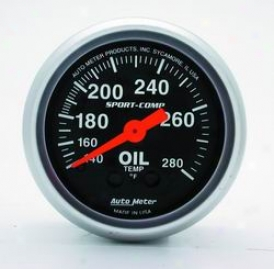 Universal Universal Auto Meter Oil Temperature Gauge 3341