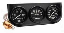 Universal Unniversal Auto Meter Oil/amp/water Gauge 2393