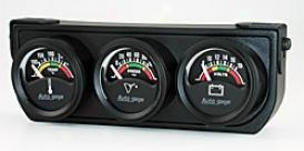 Universal Universal Auto Meter Oil/volt/water Gauge 2391