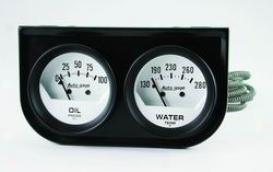 Universal Universal Auto Meter Oil/water Gauge 2323