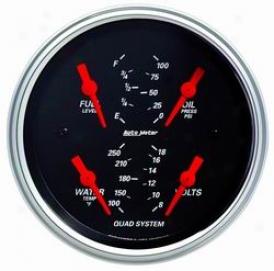 Universal Universal Auto Meter Oil/water/volt/fuel Gauge 1412