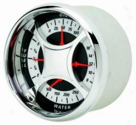 Universal Universal Auto Meter Oil/water/volt/fuel Gauge 1110