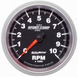 Universal Universal Auto Meter Tachometer 3697