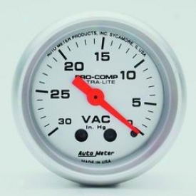 Universal Universal Auto Meter Vacuum Gauge 4384