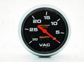 Universal Universal Auto Meter Vacuum Gauge 5484
