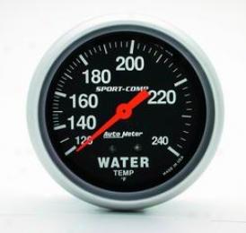 Universal Universal Auto Meter Water Temperature Gauge 3432