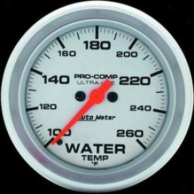 Universal Universal Auto Meter Water Temperature Gauge 4455