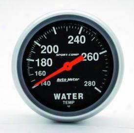 Universal Universal Auto Meter Water Temperature Gauge 3431