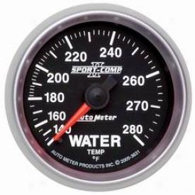 Universal Universal Auto Meter Water Temperature Gauge 7632
