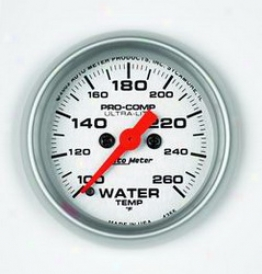 Universal Universal Auto Meter Water Temperature Gauge 4355