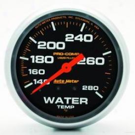 Universal Universal Auto Meter Water Temperature Gauge 5431