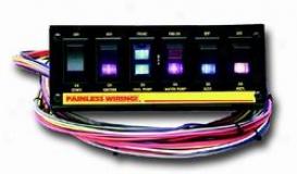 Universal Universal Painless Wiring  Toggle Switch Panel 50406