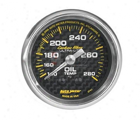 2-1/16? Mechanical Oil Temperature Gauge By Auto Meter