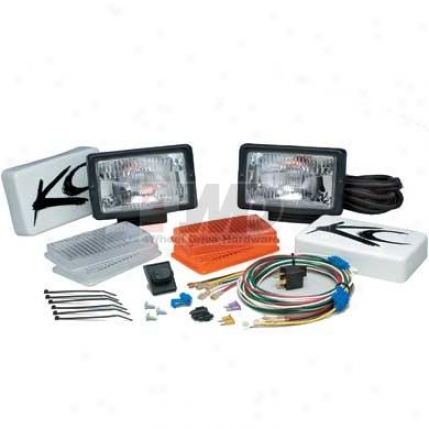 """5""""x7"""" All Season Driving And Fog Lit Kit By Kc Hilites"""
