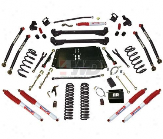 "6"" Bent Long Cover Suspension System With Nitro Shocks By Skyjacker"